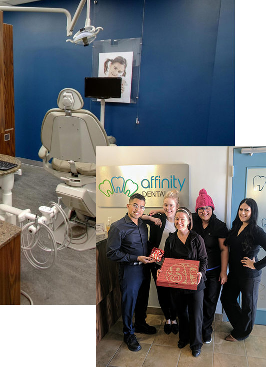 homepage image of dental staff with boston pizza