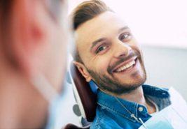 dental patient smiling a dental professional